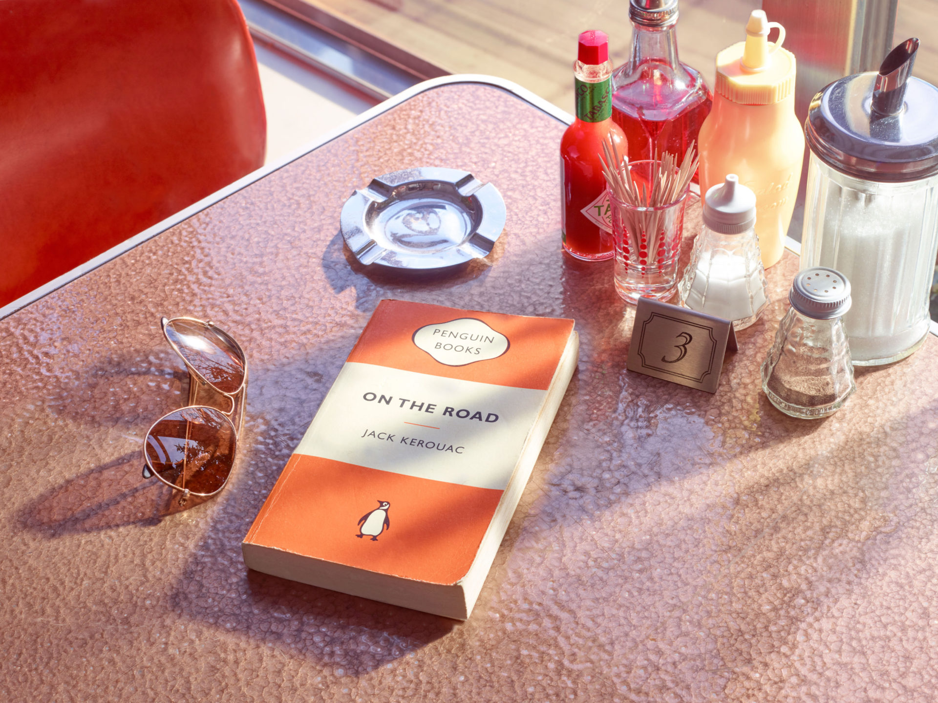 – Shaw & Shaw Photography – Shaw and Shaw Photographers Manchester – advertising photographers – graphic image – Book Club – Jack Kerouac On the Road – Penguin Books – diner – William Eggleston – Joel Sternfeld – Stephen Shore