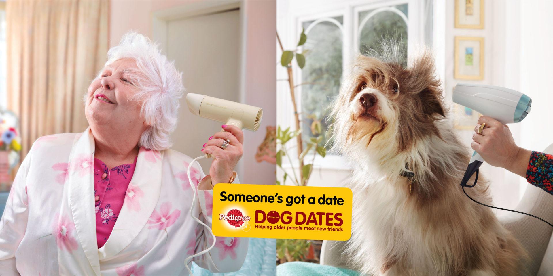 woman blowdrying hair Shaw and Shaw dog washing Advertising Photographers – doggy dates Pedigree dog food AMVDDBO  Dog Grooming