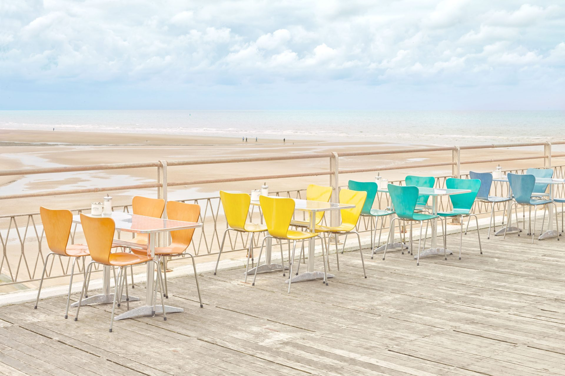 Candy cafe on the pier coloured chairs – Shaw and Shaw Advertising photographers Manchester photographer – Shaw & Shaw Photography