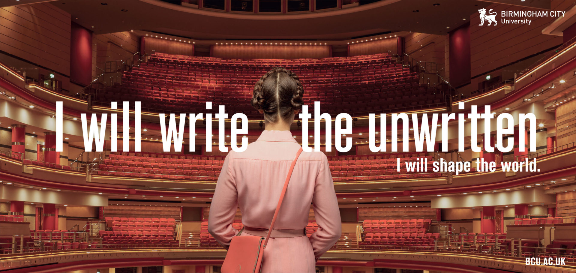 Chapter Agency West Wythall West Midlands – woman in a theatre – BCU Birmingham City University – Symphony Hall – Wes Anderson – Shaw & Shaw -Shaw and Shaw Advertising photographers photographer photography