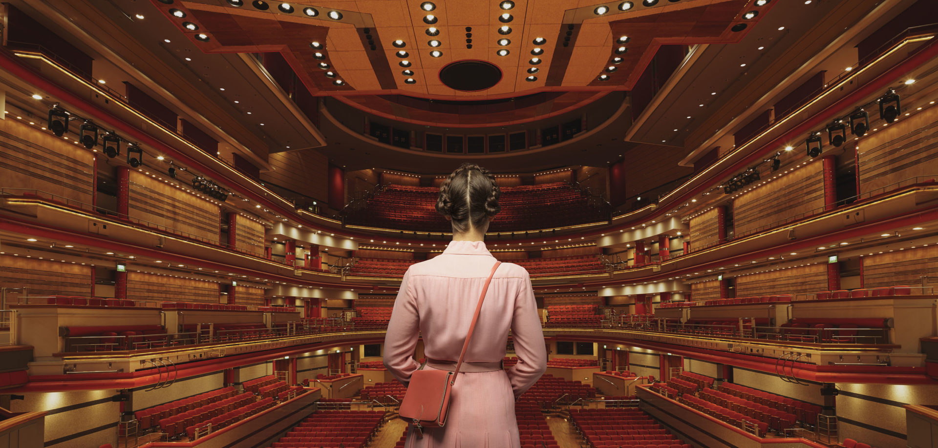 Chapter Agency West Wythall West Midlands – woman in a theatre – BCU Birmingham City University – Wes Anderson – Symphony Hall Shaw & Shaw -Shaw and Shaw Advertising photographers photographer photography