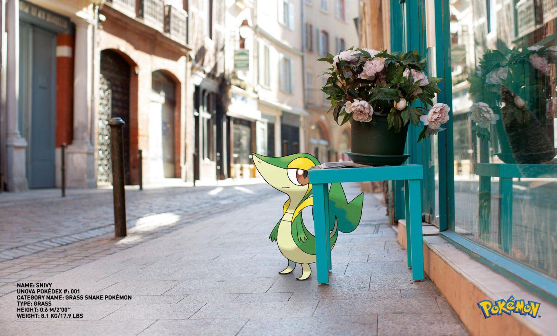 Pokemon Go Snivy Grass Faced Pokemon Dentsu London – Shaw and Shaw advertising photography photographer photographers