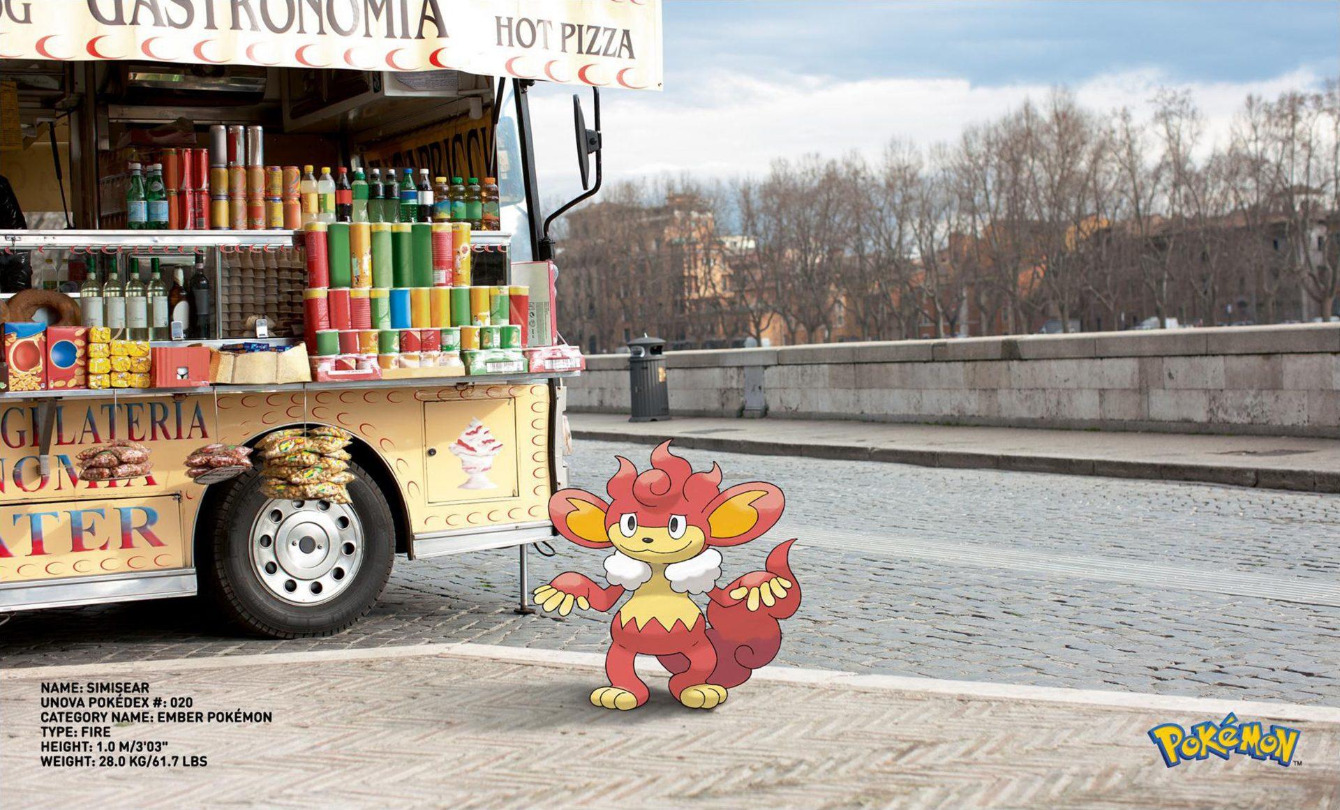 Pokemon Go Simisear Ember Pokemon Dentsu London – Shaw and Shaw Photography photographer