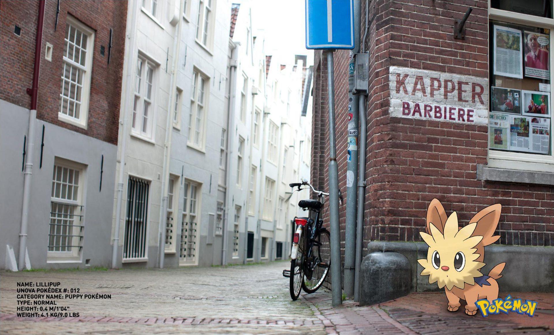 Kapper Barbiere Pokemon Go Lillipup  Puppy Pokemon Dog on street corner Dentsu London Shaw and Shaw Photography photographer