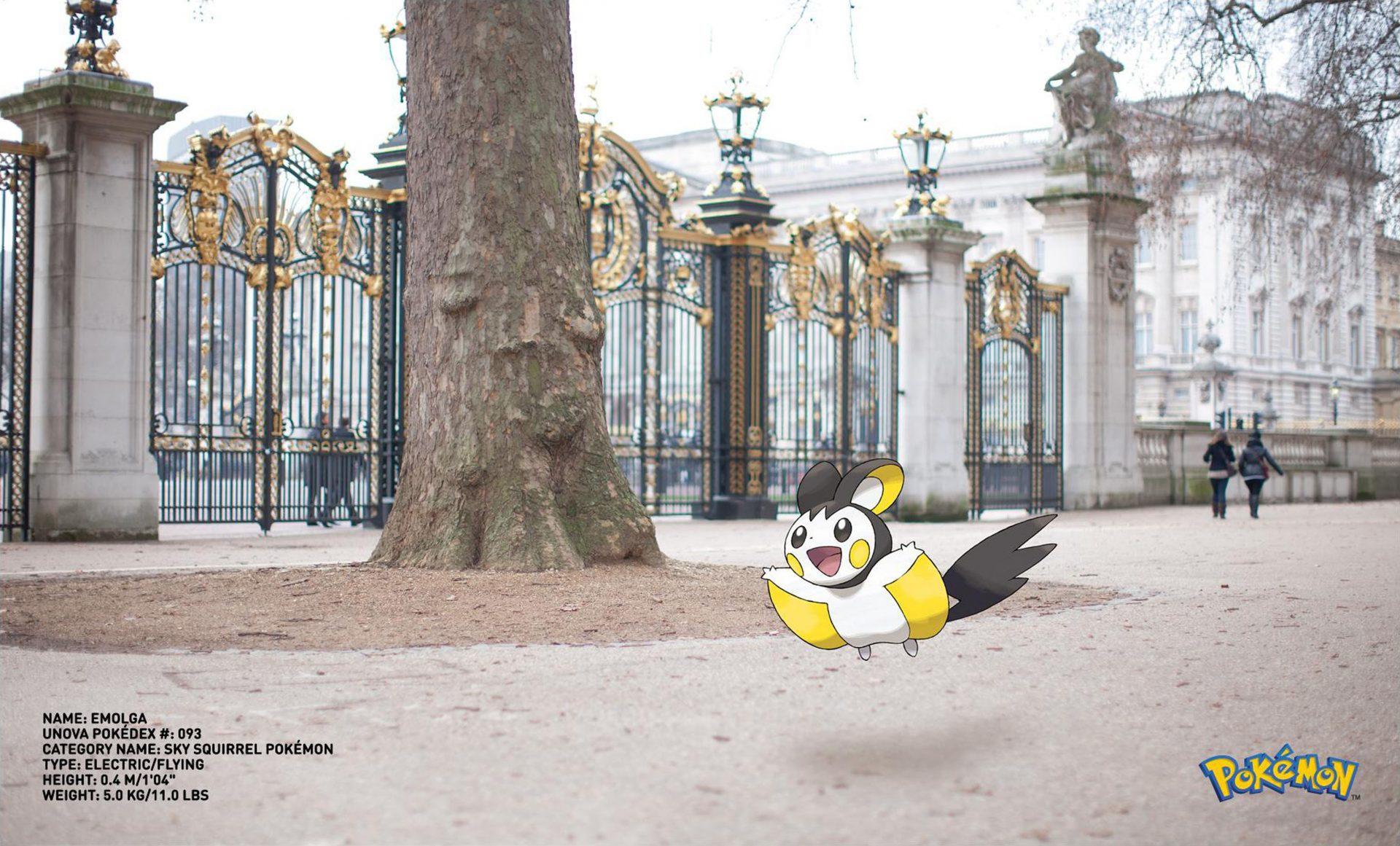 Pokemon Go Emolga sky squirrel Dentsu London Buckingham Palace the Queen's house – Shaw and Shaw advertising photography photographer photographers