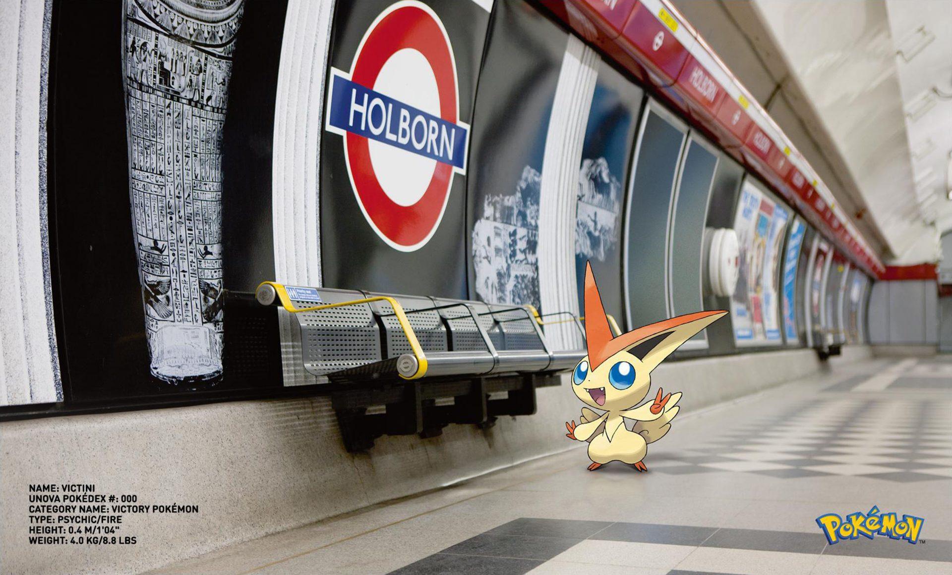 Holburn Tube Station underground Pokemon Go Victini Victory  Pokemon Dentsu London Rome Italy – Shaw and Shaw Photography photographer0