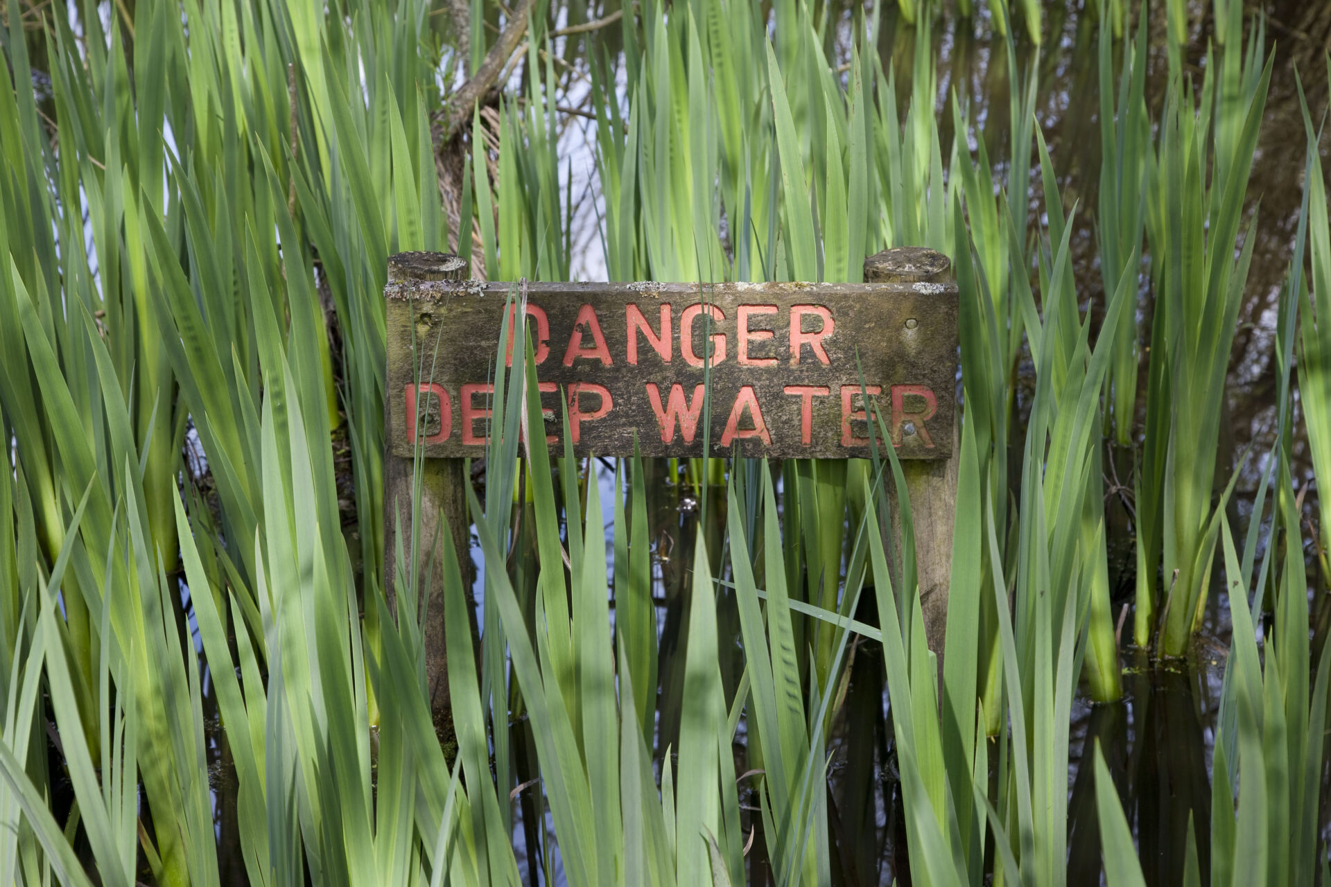 Danger Deep Water sign – Shaw & Shaw photography – Shaw & Shaw Photography campaign – Shaw and Shaw advertising photographers