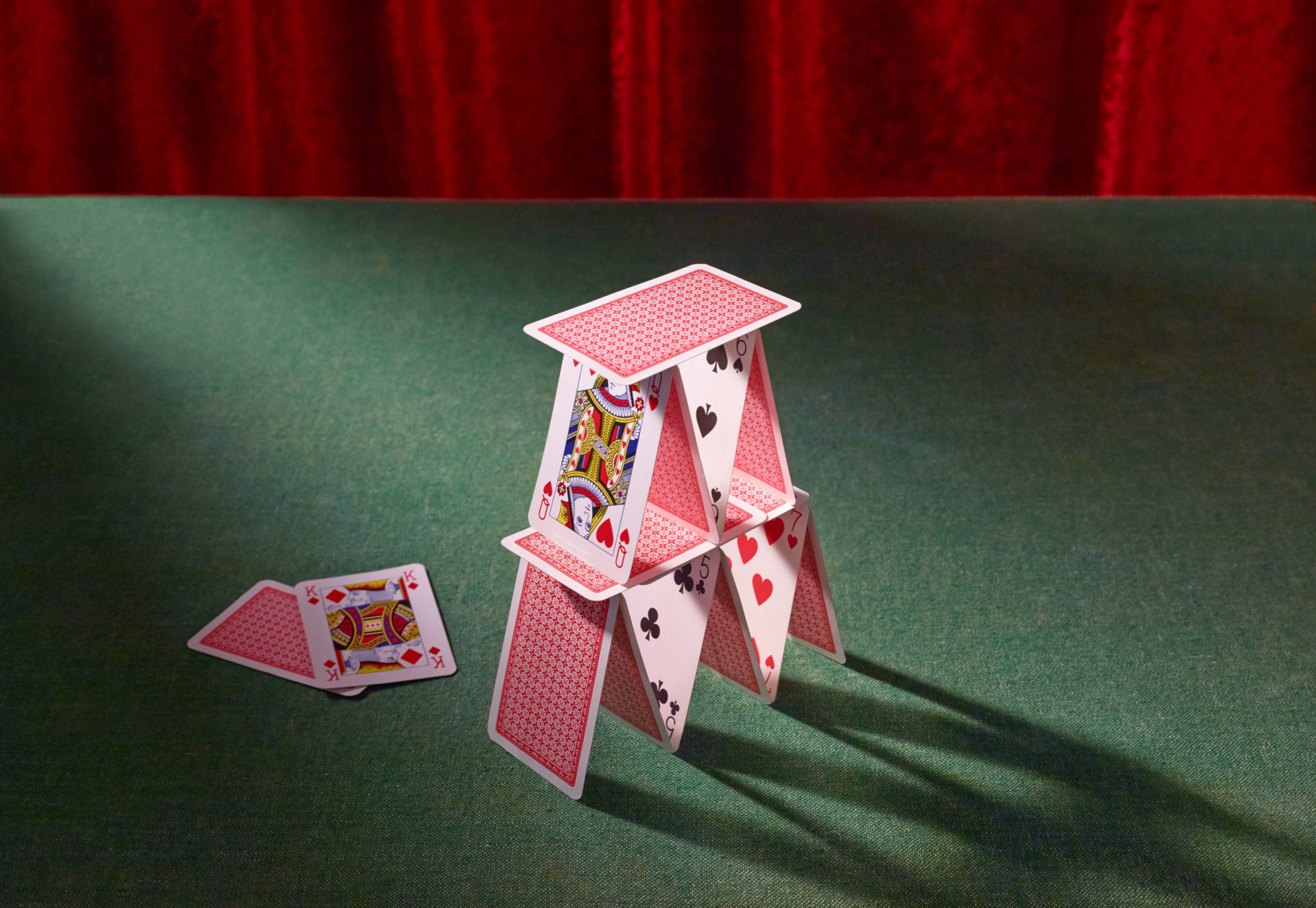 Shaw and Shaw Photography – Shaw & Shaw Photographers – Ladybird Books – House of cards – card table