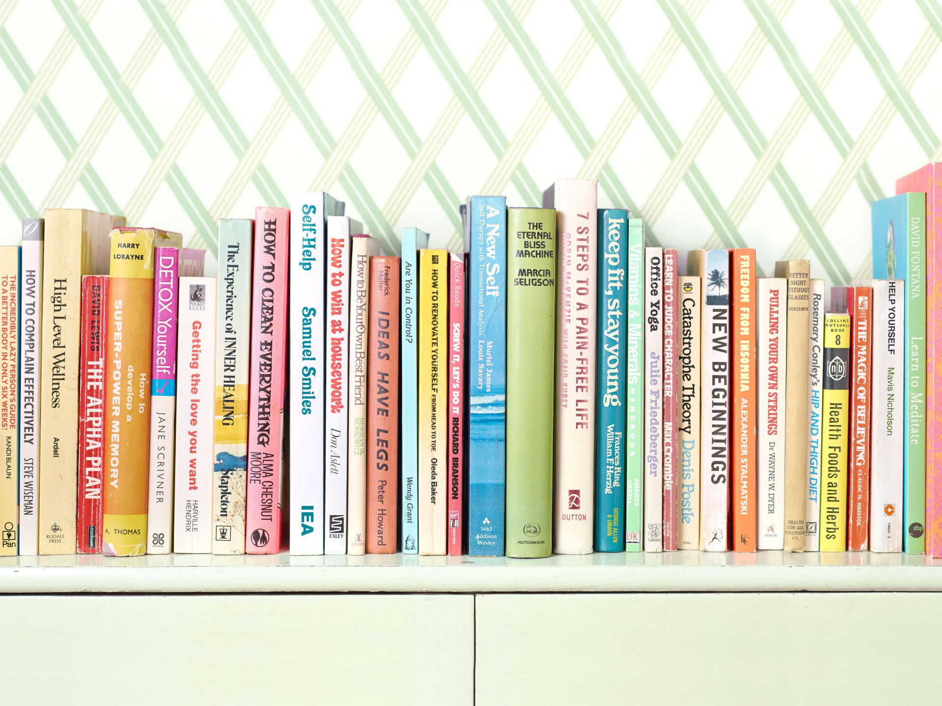 Shaw & Shaw – Self Help books on a shelf – Shaw and Shaw Advertising photographers photographer photography