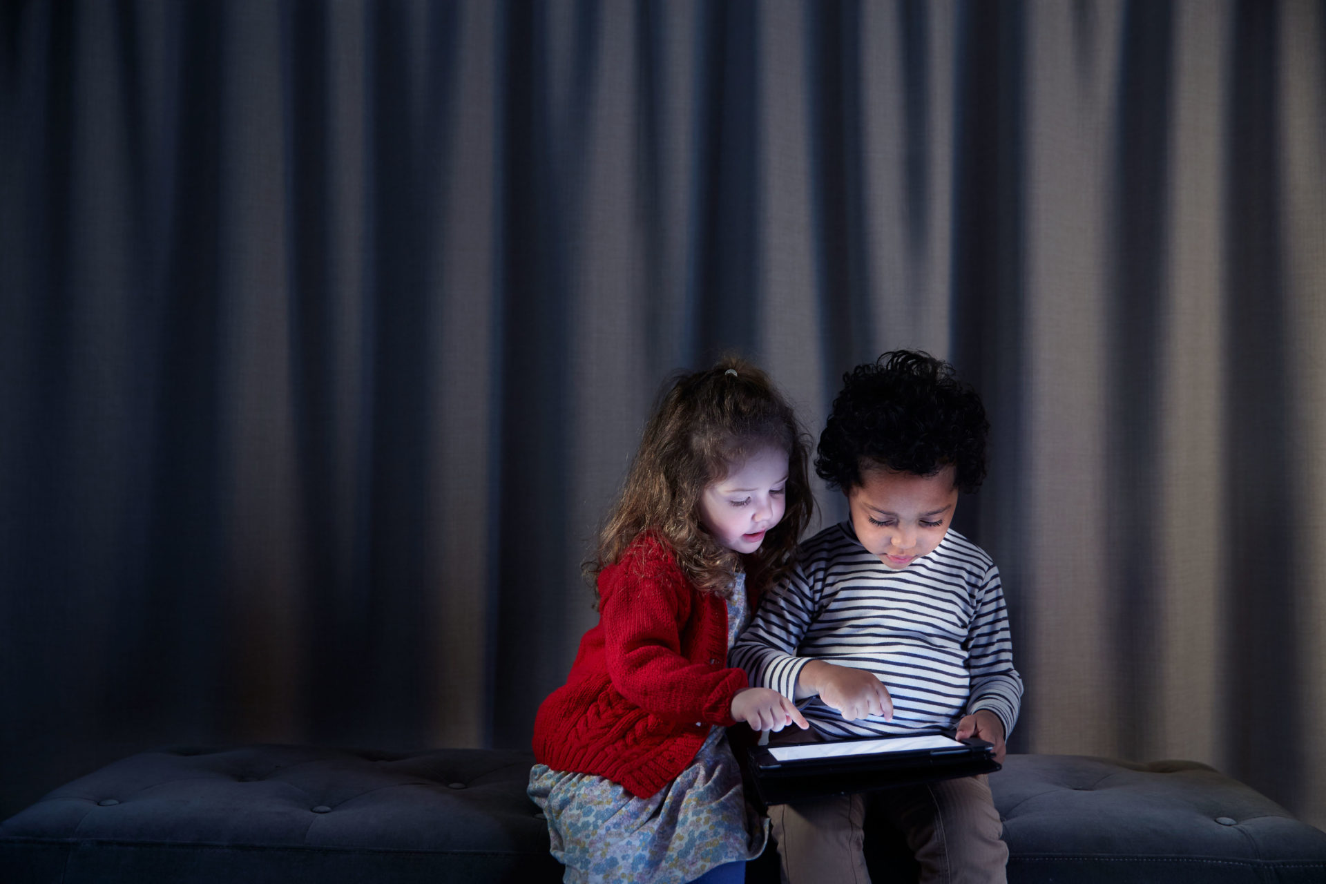 Mama Codes – girl and boy looking at iPad –  Wired Magazine- Shaw & Shaw Photography campaign – Shaw and Shaw advertising photographers