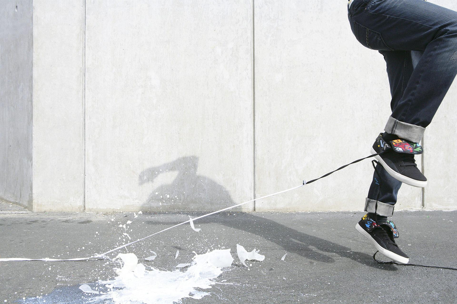 Shaw & Shaw – Umbro Kim Jones – dropped bottle of milk smashes – – shoelaces – Shaw and Shaw Advertising photographers photographer photography