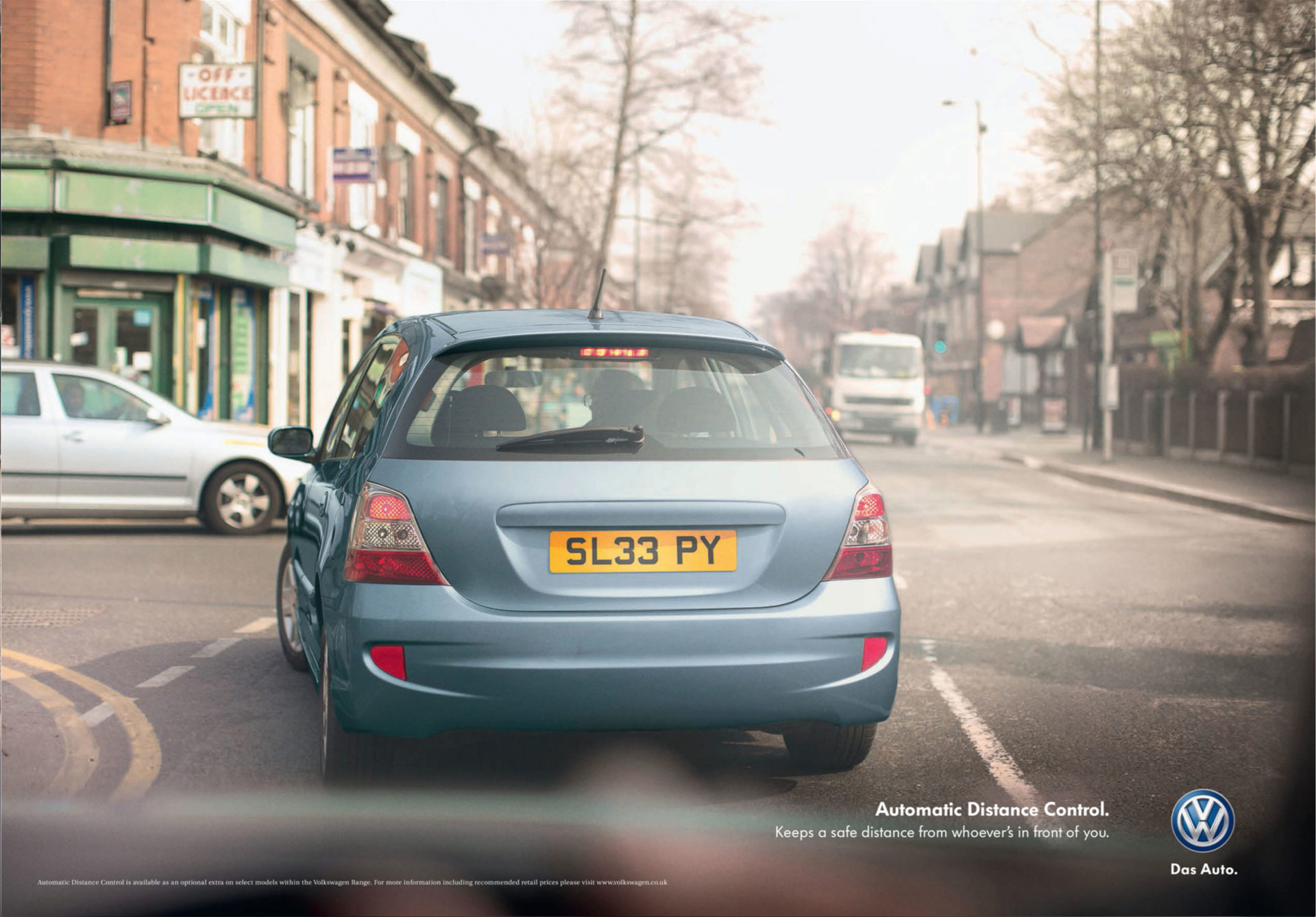 VW – Volkswagen automatic distance control campaign Adam & Eve DDB – Shaw & Shaw Photography – Shaw and Shaw advertising photographers