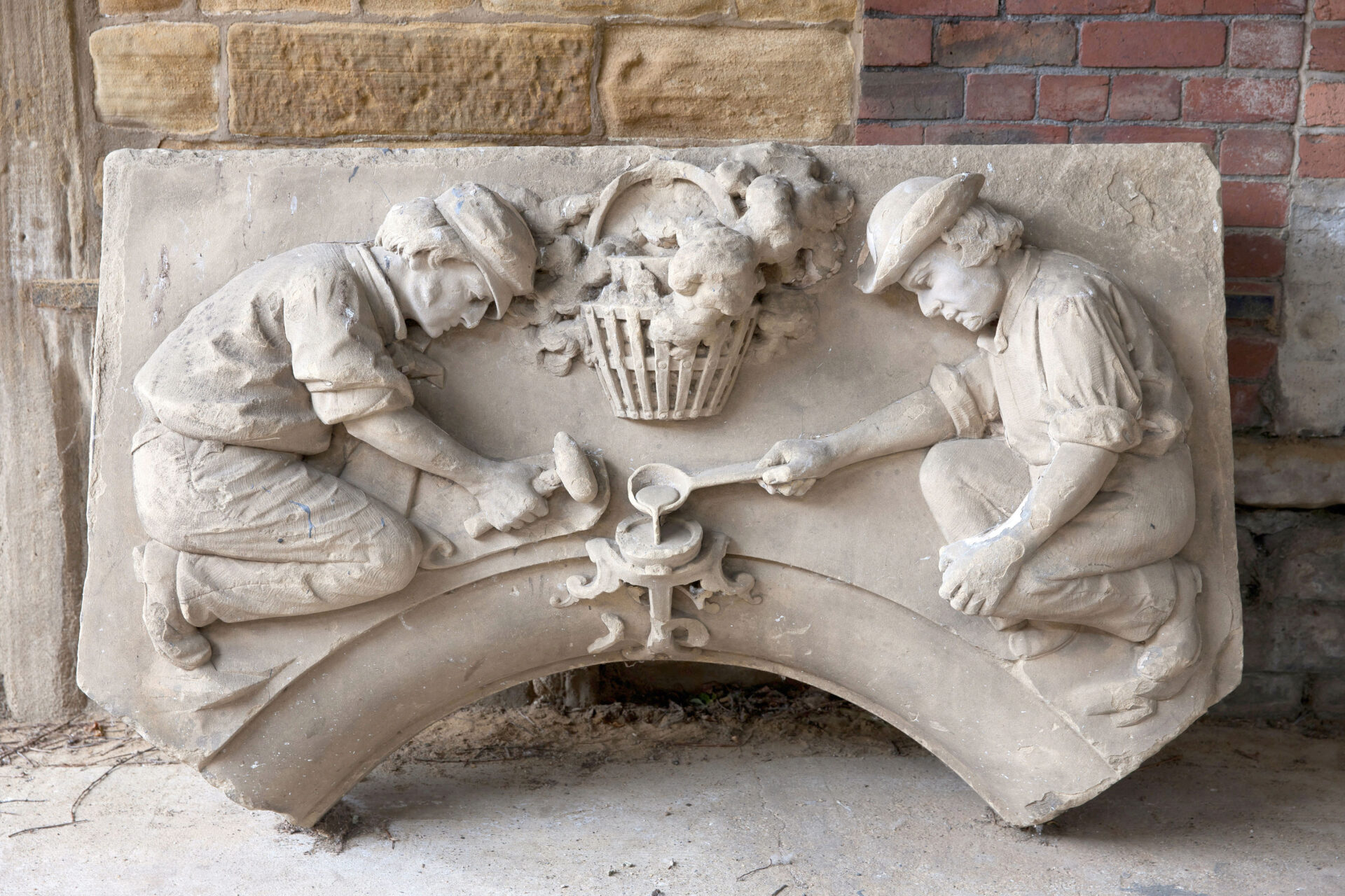 – Shaw & Shaw Photography – Shaw and Shaw Photographers Manchester – advertising photographers – graphic image – Kirkstall Forge – stone carving in a forge